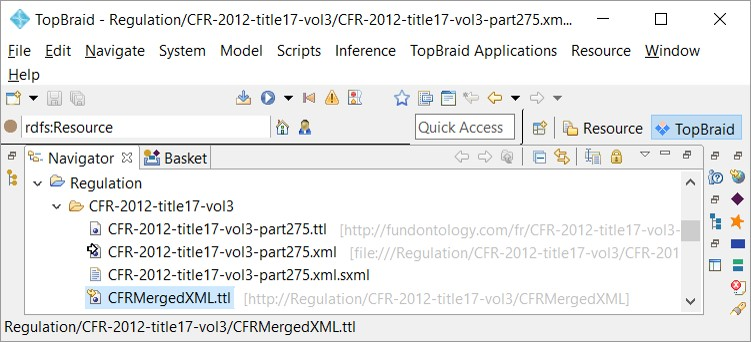 CFR files in the ontology editor